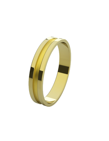 WEDDING RING HIGHER YELLOW GOLD