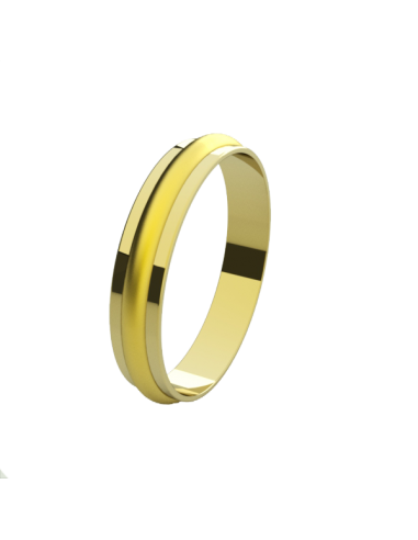 WEDDING RING ROMANTIC YELLOW GOLD