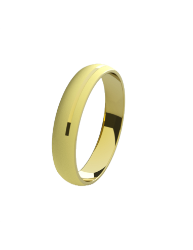WEDDING RING COOL YELLOW GOLD