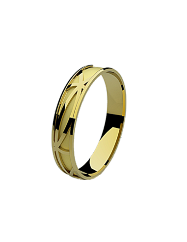 WEDDING RING OCEAN YELLOW GOLD