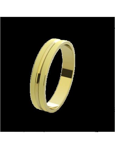 WEDDING RING ROMA YELLOW GOLD