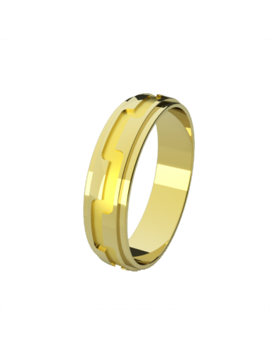 WEDDING RING COCKTAIL YELLOW GOLD