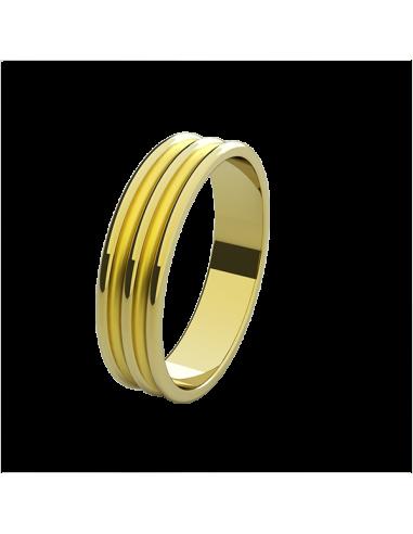 WEDDING RING COSMOPOLITAN YELLOW GOLD