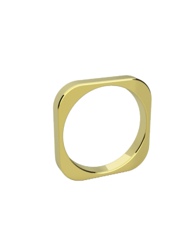 WEDDING RING SQUARE YELLOW GOLD