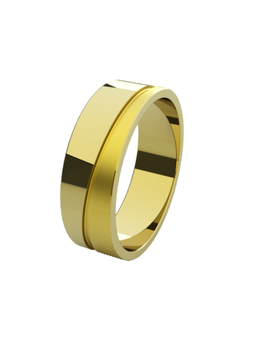 WEDDING RING BEAUTY 6MM YELLOW GOLD
