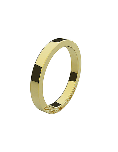 WEDDING RING EDEN I YELLOW GOLD