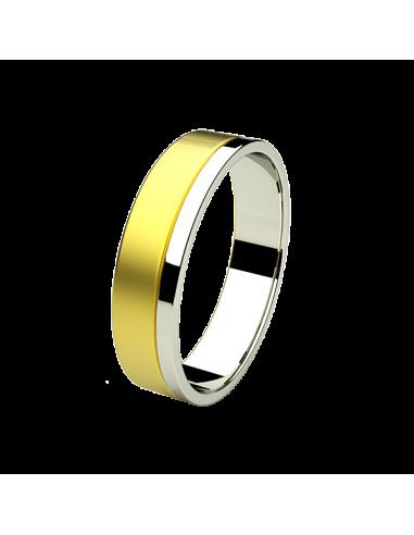 WEDDING RING NOA BICOLOR