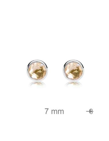 SILVER EARRINGS WITH CIRCONIT CHAMPAGNE