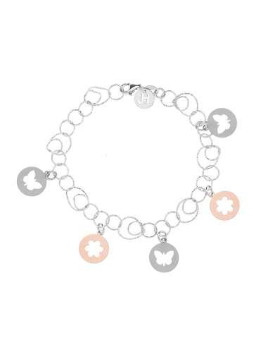 Bracelet silver in two colors silver...